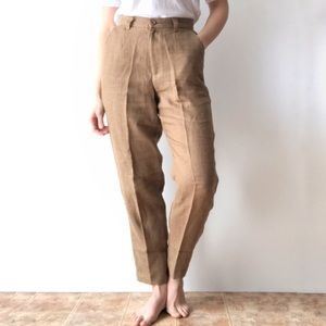 Vintage GAP Linen Trousers Tapered Leg Relaxed Fit